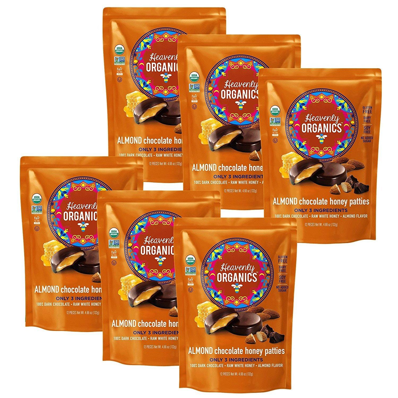 CDM product Heavenly Organics Almond Chocolate Honey Patties, 132g, Pack of 6 big image