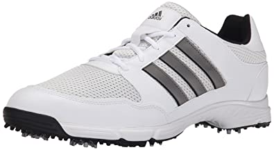 863617e4c2e adidas Men's Tech Response 4.0 Golf Shoe, White/Dark Silver Metallic, ...