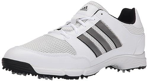 adidas Men's Tech Response 4.0 Golf Shoe,White/White/Dark Silver Metallic,