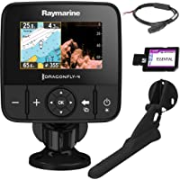 Raymarine E70294-CEUR Dragonfly-4Pro Sonar/GPS (10,9 cm (4,3 Zoll), integrierte CHIRP Down Vision, CPT-DVS Geber, WiFi, EU-CMAP Essentials Karte)