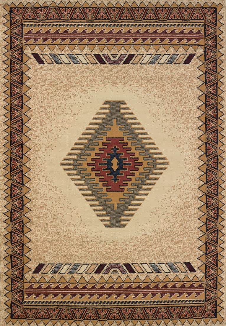 Amazon Com United Weavers Manhattan Tucson Cream Southwestern Rug 5 3 X 7 6 040 27097 Toys Games