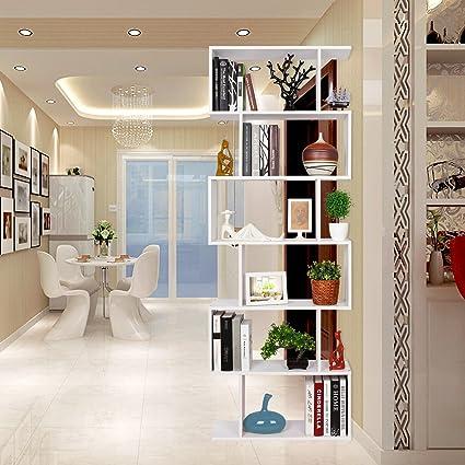 Homfa Scaffale Libreria Mobile Soggiorno in Legno Mobile per ...