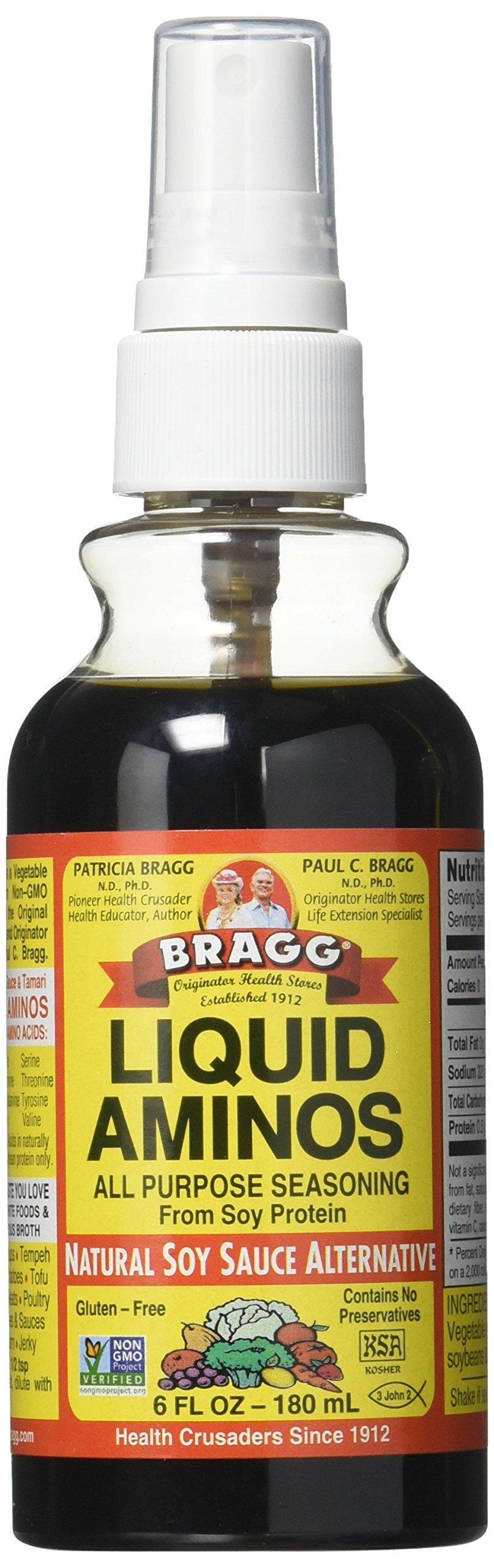 Bragg Liquid Aminos, 6 fl oz, 4 Pack by Bragg