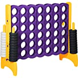 ECR4Kids Jumbo 4-To-Score Giant Game Set - Oversized 4-In-A-Row Fun for Kids, Adults and Families - Indoors/Outdoor Yard Play