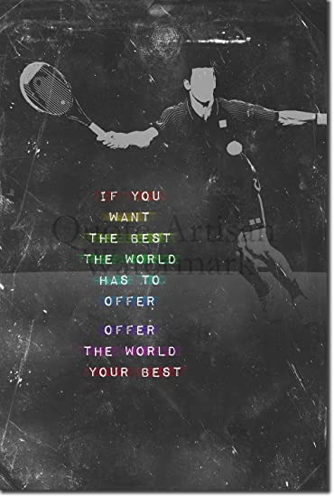 PRINT PICTURE SUCCESS BELONGS TENNIS MOTIVATIONAL QUOTE SIGN// POSTER