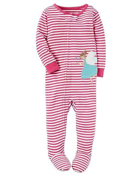 56a525a20c89 Amazon.com  Carters Toddler Girls Lightweight Snowman Sleeper Footie ...
