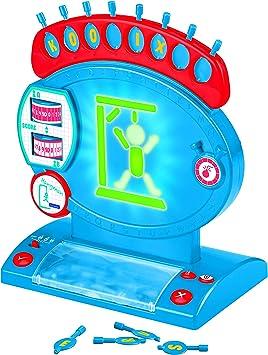 LEXIBOOK ahorcado electrónico, Juego de Mesa Infantil y Familiar, ortografía y Vocabulario, Efectos Luminosos y sonoros, 2 Jugadores, Azul/Rojo (JG800): Amazon.es: Juguetes y juegos