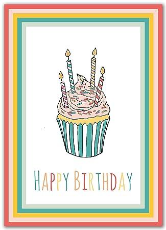 Amazon.com: Juego de 10 tarjetas de cumpleaños.: Office Products