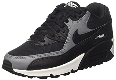 Nike Damen Air Max 90 Gymnastikschuhe, Schwarz Cool Grey-Black, 37.5 ...