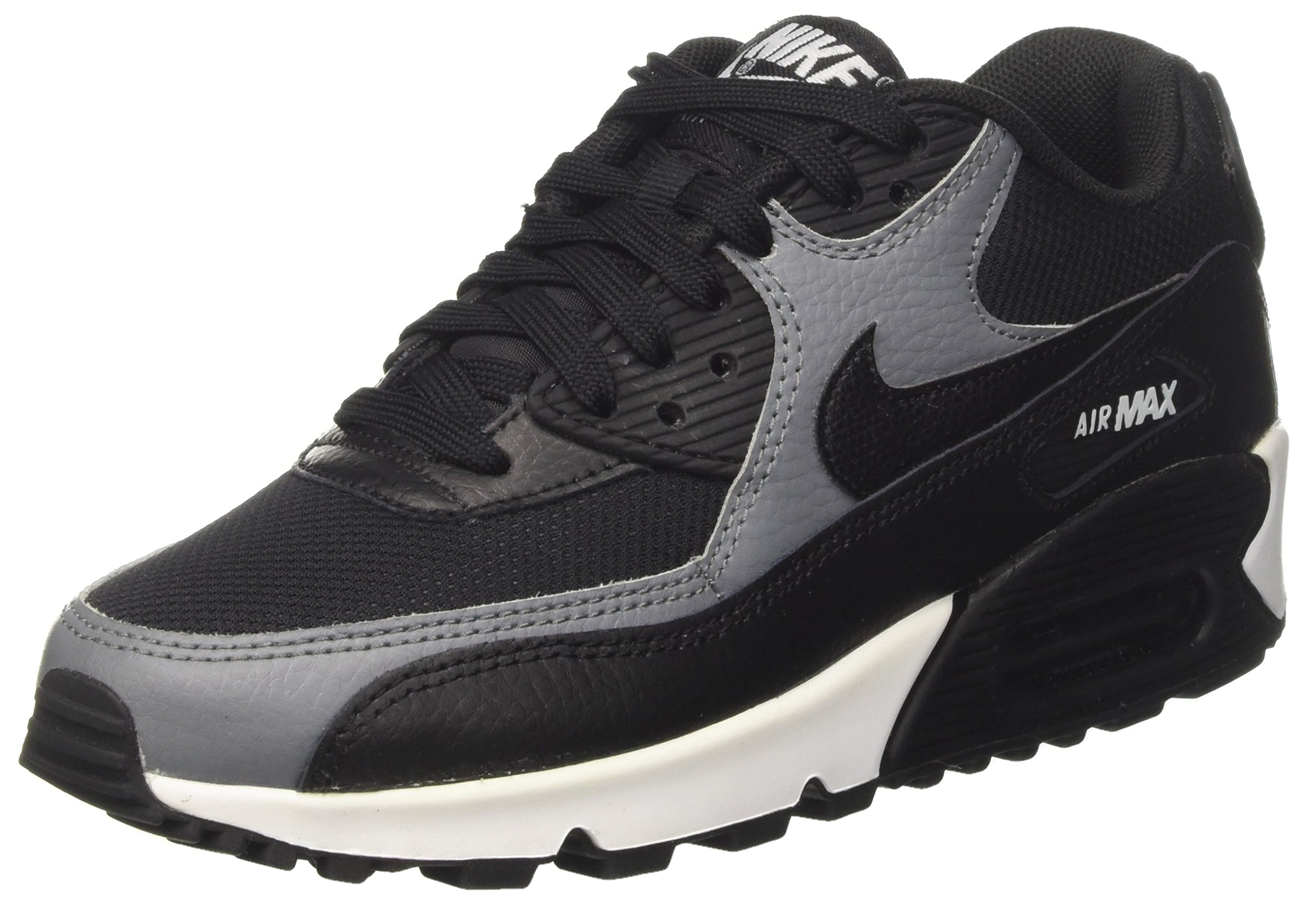 NIKE Air Max 90 Women's Shoes BlackBlackCool Grey 325213 037 (5 B(M) US)