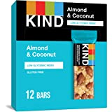 KIND Bars, Almond & Coconut, Gluten Free, 1.4 Ounce, 12 Count