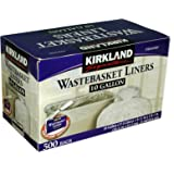 Kirkland Signature 10 Gallon Clear Wastebasket Liner 500 Count