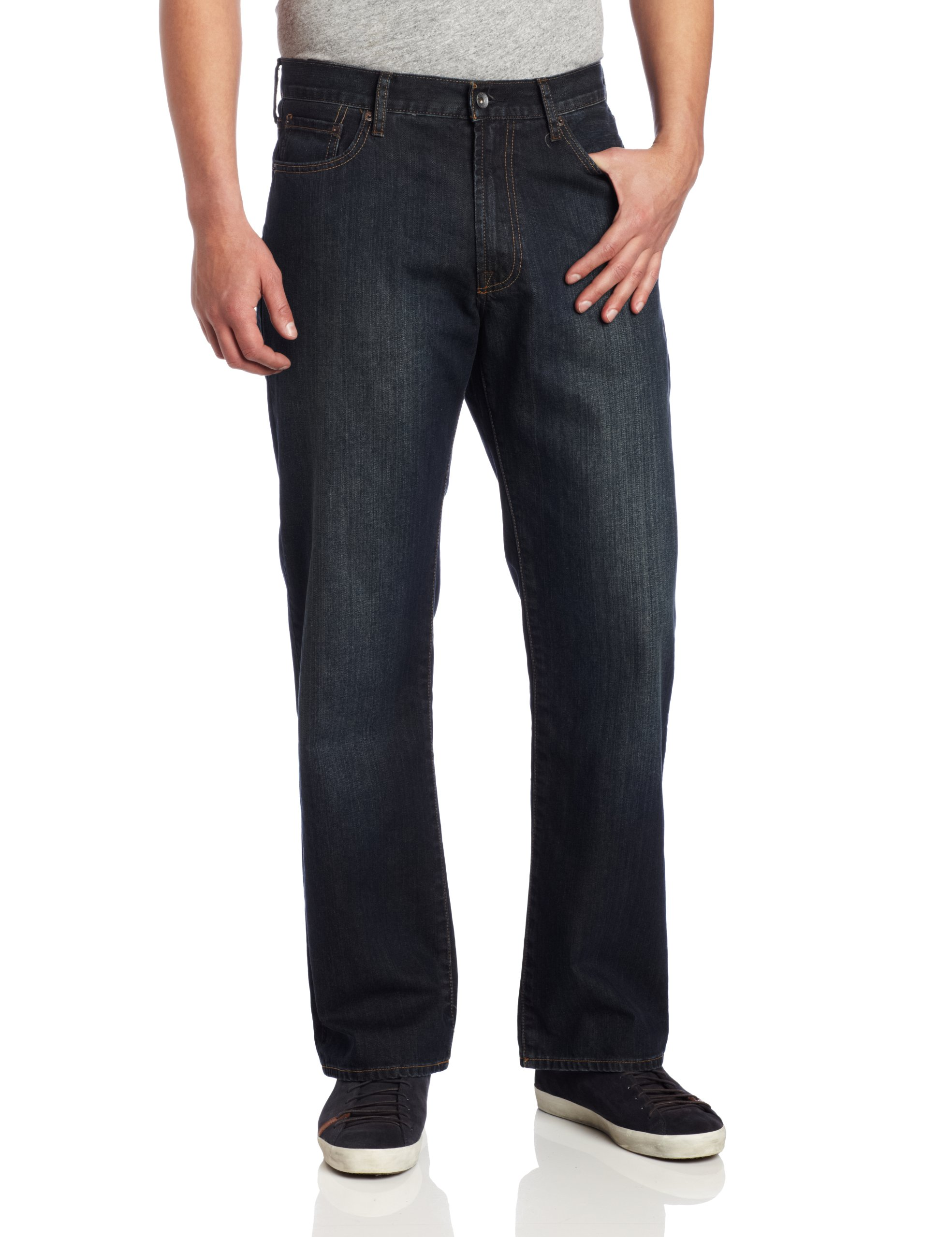 Lucky Brand Men's 181 Relaxed Straight Leg Jean In Love Train, Lovetrain, 38W x 34L