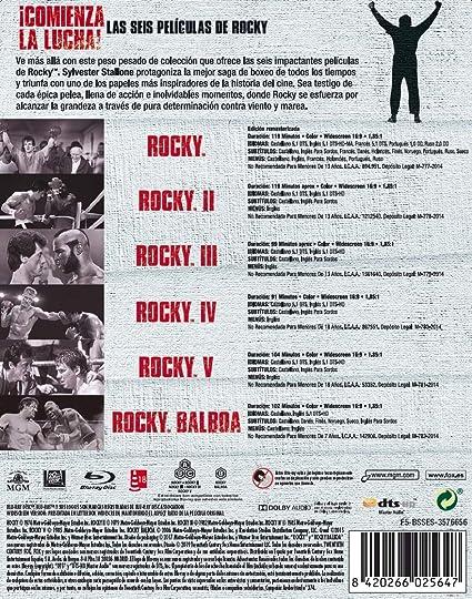 Pack Rocky 1-6 Black Mtl Ed Blu-Ray [Blu-ray]: Amazon.es: Antonio Tarver, Brigitte Nielsen, Burgess Meredith, Burt Young, Carl Weathers, Geraldine Hughes, Richard ...