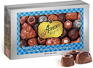 product image for Asher's Chocolates, Sugar Free Chocolate Candy, Milk and Dark Chocolate Assortment, Small Batches of Kosher Chocolate, Family Owned Since 1892, Assorted Keto Chocolates (8 oz.)
