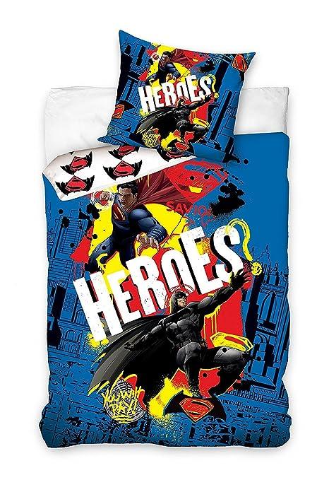 Copripiumino Superman.Batman V Superman Parure Da Letto Copripiumino 140 X 200 Federa
