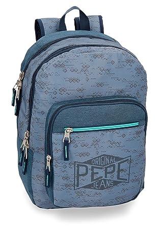 Mochila Pepe Jeans Pierce doble compartimento adaptable a carro: Amazon.es: Equipaje