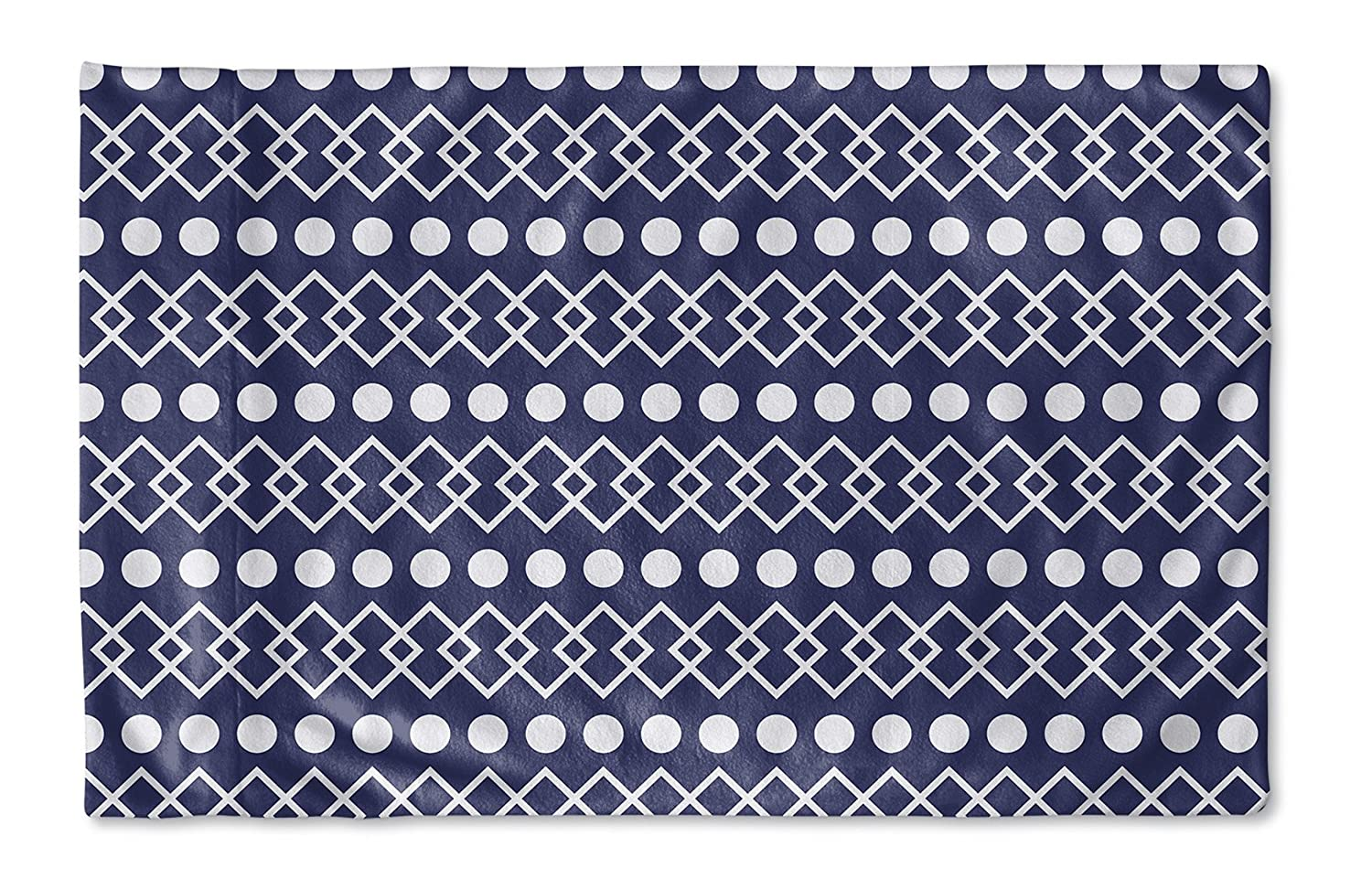 Dots Pillow Case, KAVKA Designs Chains - SALTWATER Collection Size: 30X20X1 - Blue//White TELAVC013PC32