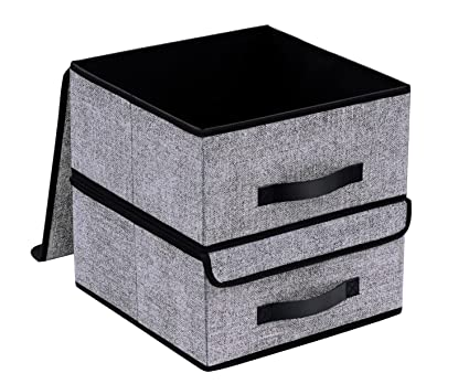 Onlyeasy Foldable Storage Bins Cubes Boxes With Lid   Storage Box Cube  Basket Closet Organizer Pack