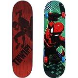 PlayWheels Ultimate Spider-Man 28' Skateboard, THWIP, Blue (166438)