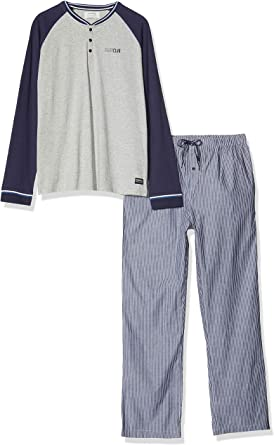 Springfield Pij Tela Rayas Conjuntos de Pijama, Azul (Blue 12 ...