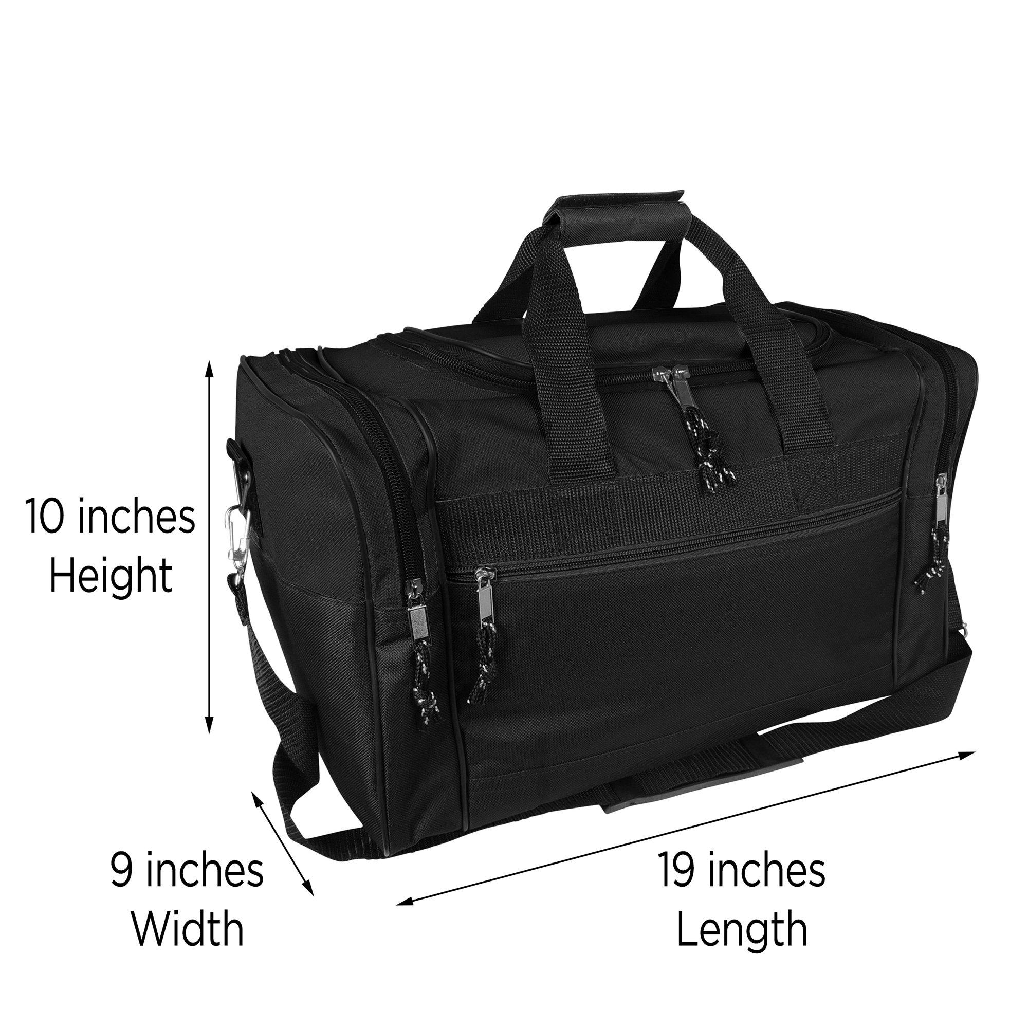 269559ae37a1 DALIX Blank Duffle Bag Duffel Bag in Black Gym Bag - DF-005-Black   Sports  Duffels   Clothing