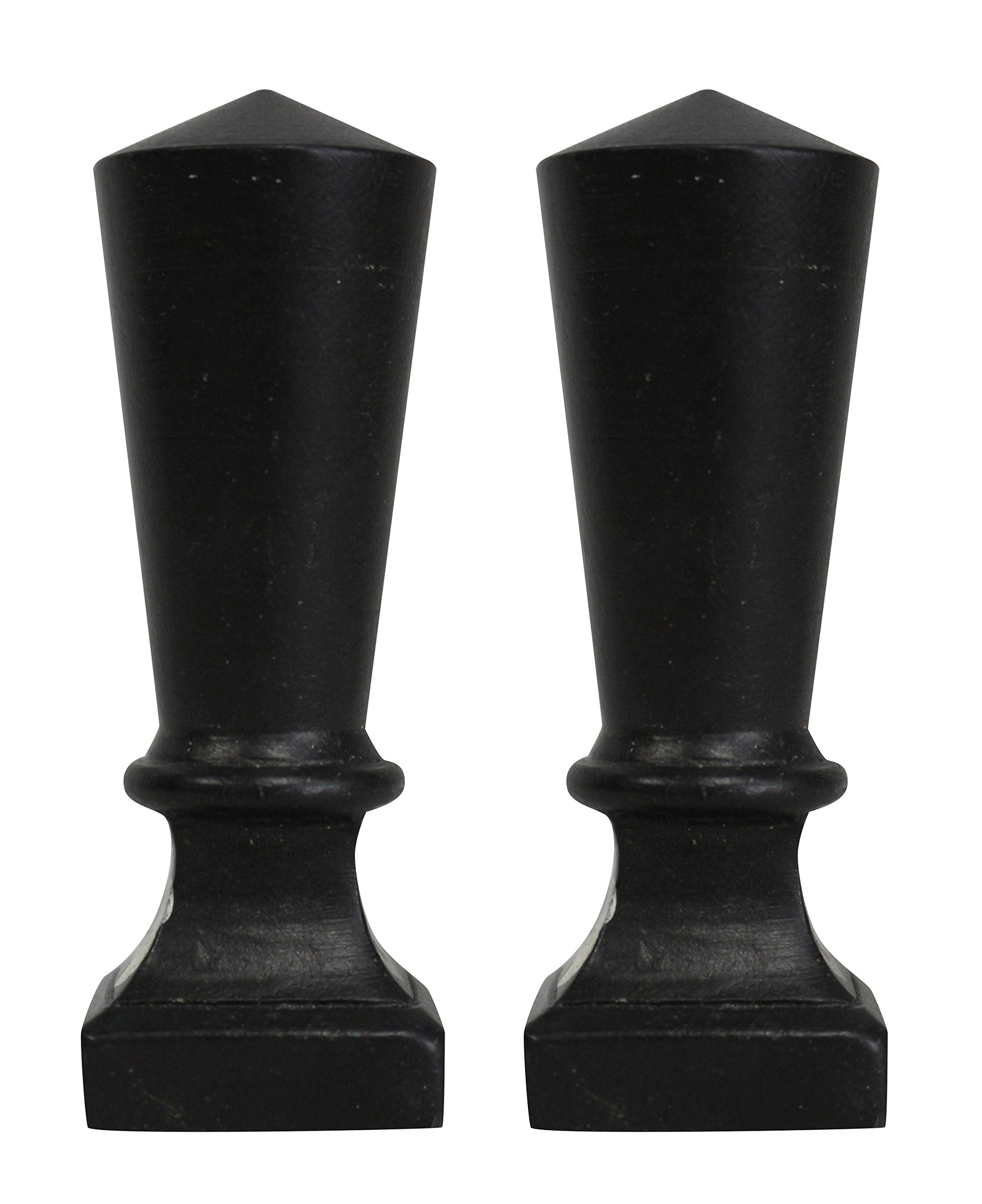 Urbanest Set of 2 Olivet Lamp Finial, 2 1/2-inch Tall, Oil-rubbed Bronze