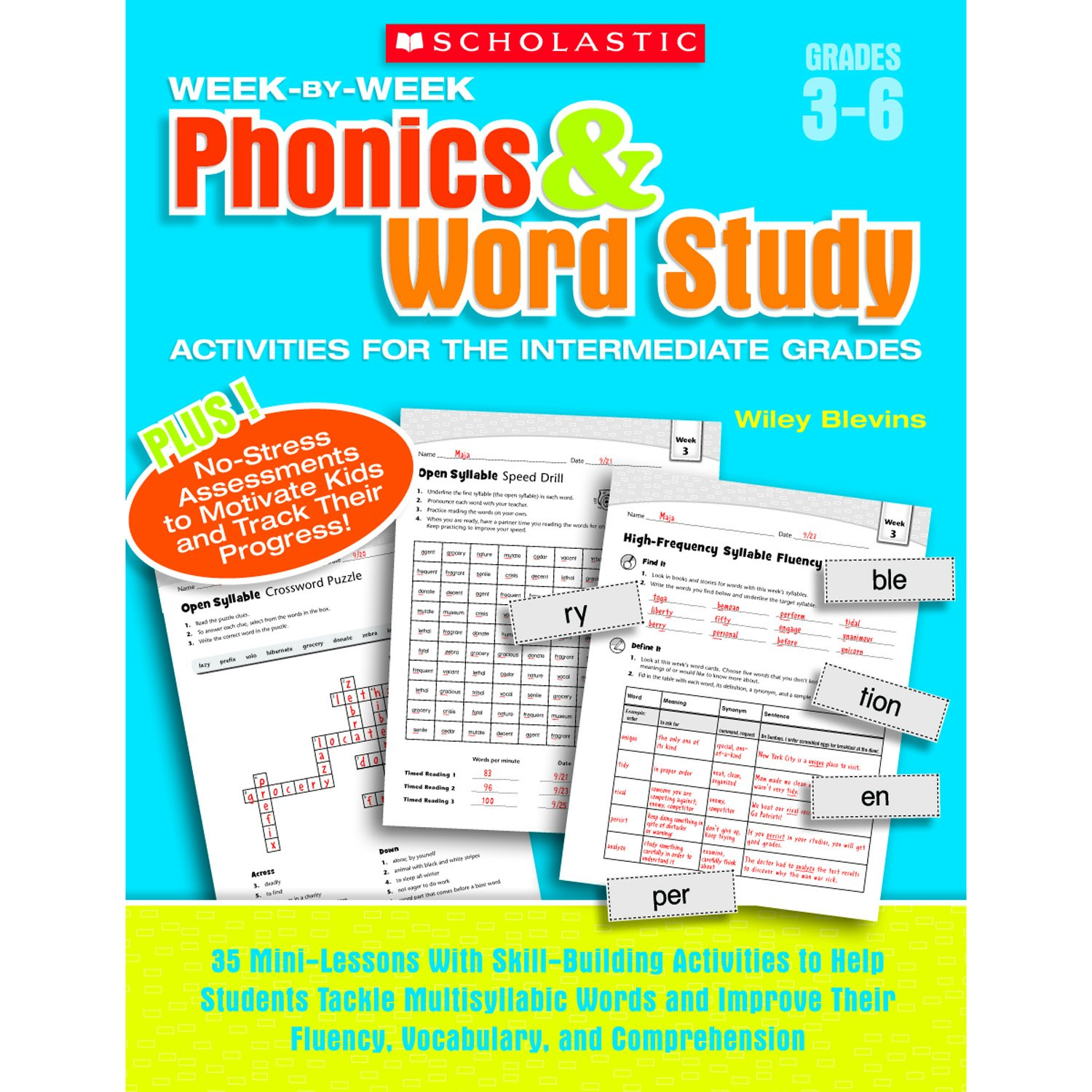 Week-by-Week Phonics & Word Study Activities for the Intermediate Grades: 35 Mini-Lessons With Skill-Building Activities to Help Students Tackle ... Their Fluency, Vocabulary, and Comprehension pdf