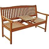 """Indoba Gartenbank, 3-Sitzer mit Klapptisch """"Sun Flair"""" - Serie, braun, 150 x 61 x 88 cm, IND-70032-GB3TI"""