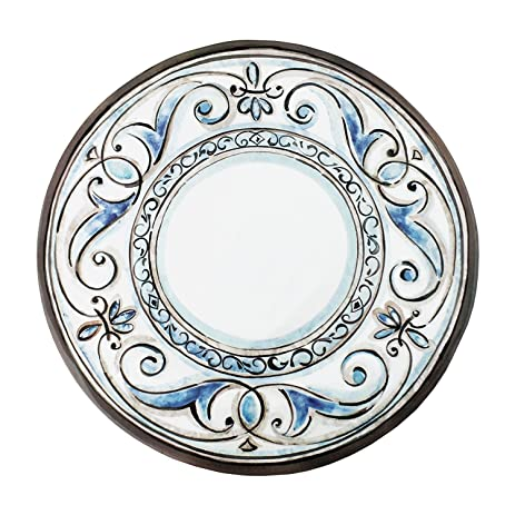 Le Cadeaux Fleur De Lis - Melamine Dinner Plate - Set of 4  sc 1 st  Amazon.com & Amazon.com | Le Cadeaux Fleur De Lis - Melamine Dinner Plate - Set ...