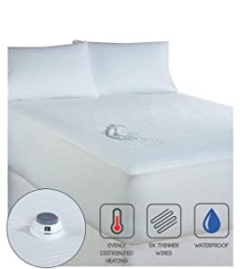 Serta | Smart Heated Waterproof Mattress Pad with Safe & Warm Low Voltage Technology, 233 Thread-Count (Queen)
