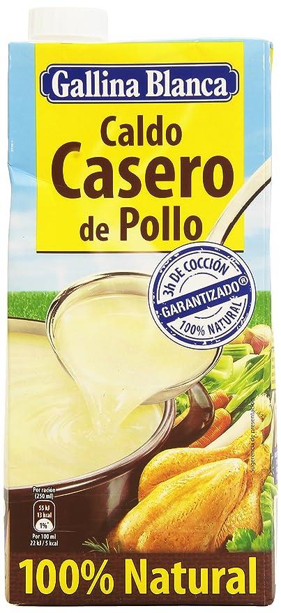 Gallina Blanca - Caldo casero de pollo - 100% natural - 1 l: Amazon.es: Alimentación y bebidas