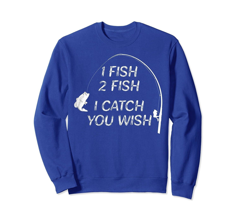 1 Fish Bass Fisherman Funny Fishing Gift Sweatshirt-ln