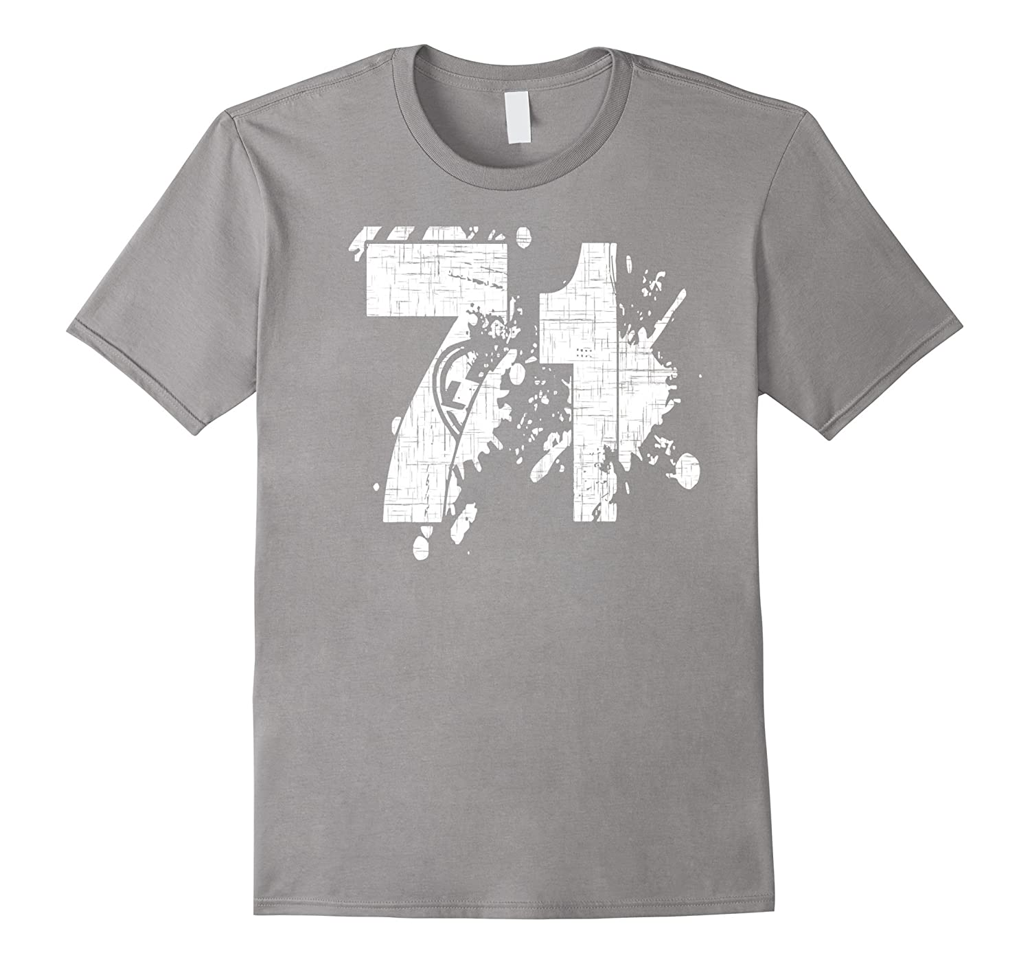 71 Team T-Shirts printed front and back in super grunge-PL