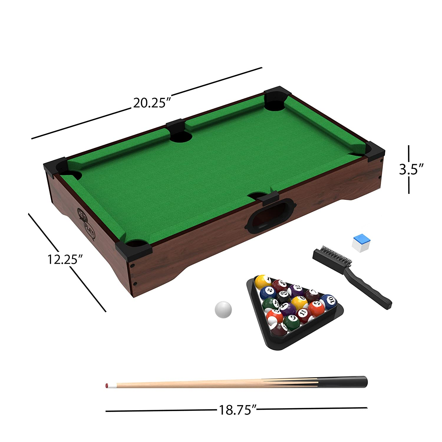 Amazoncom Trademark Mini Tabletop Pool Set Billiards Game - How much room is needed for a pool table