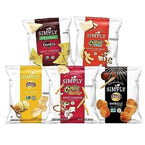 Simply Brand Organic Doritos Tortilla Chips, Cheetos Puffs Variety Pack, 36 Count