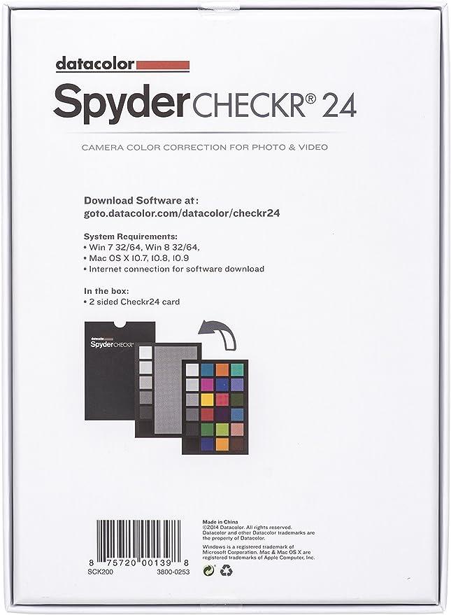 Datacolor Spydercheckr 24 Farbkarte Zur Elektronik