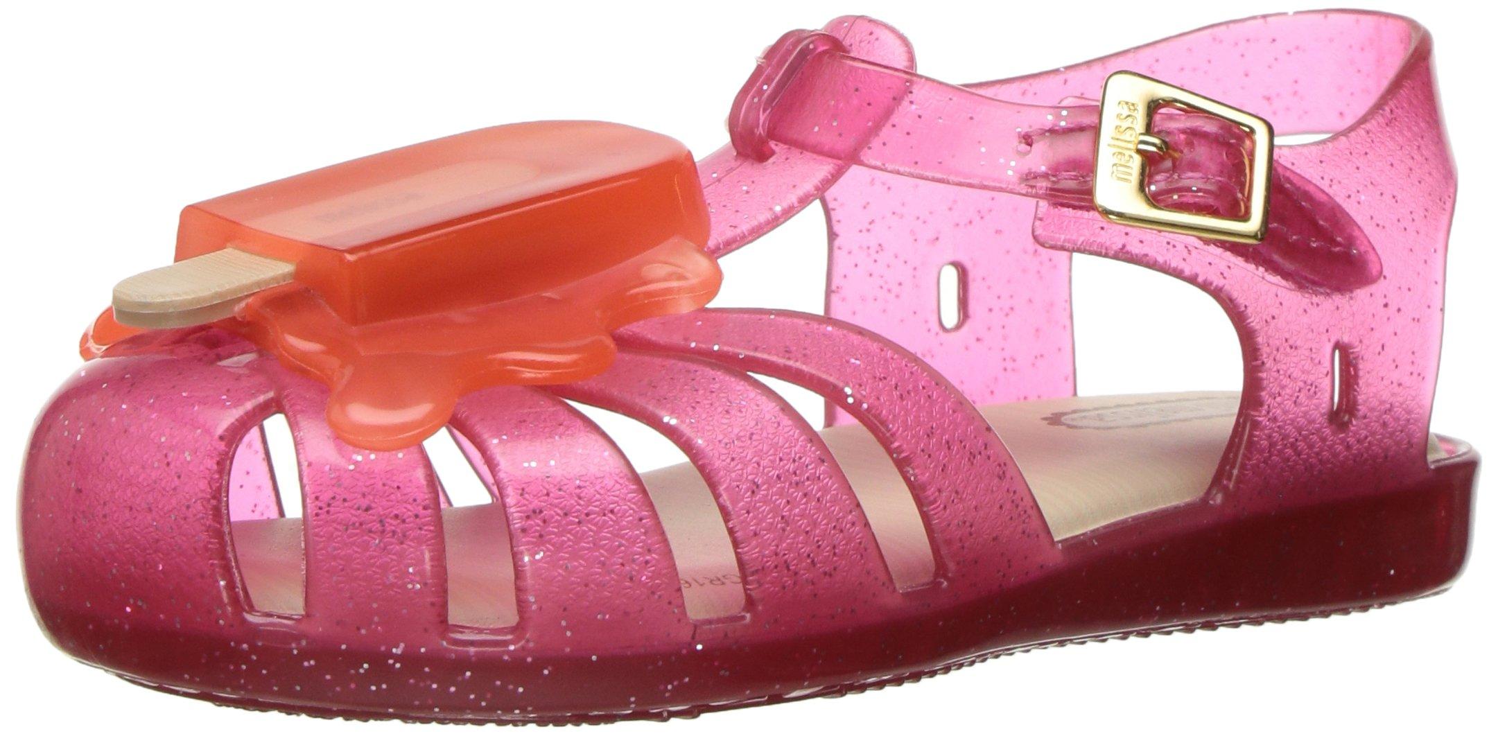 Mini Melissa Girls' Mini Aranha VIII Mary Jane, Pink/Orange, 6 M US Toddler