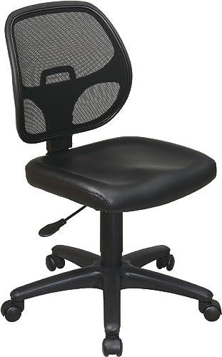 Office Star Mesh Screen Back Armless Task Chair
