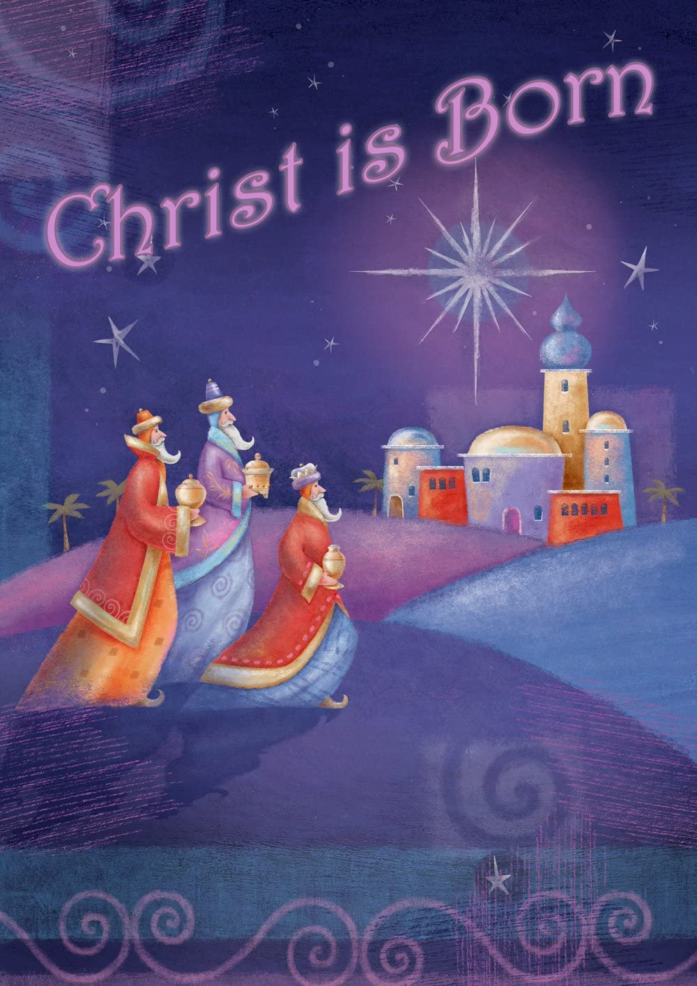 Toland Home Garden Christ is Born 12.5 x 18 Inch Decorative Winter Christmas Nativity Religious Faith Garden Flag