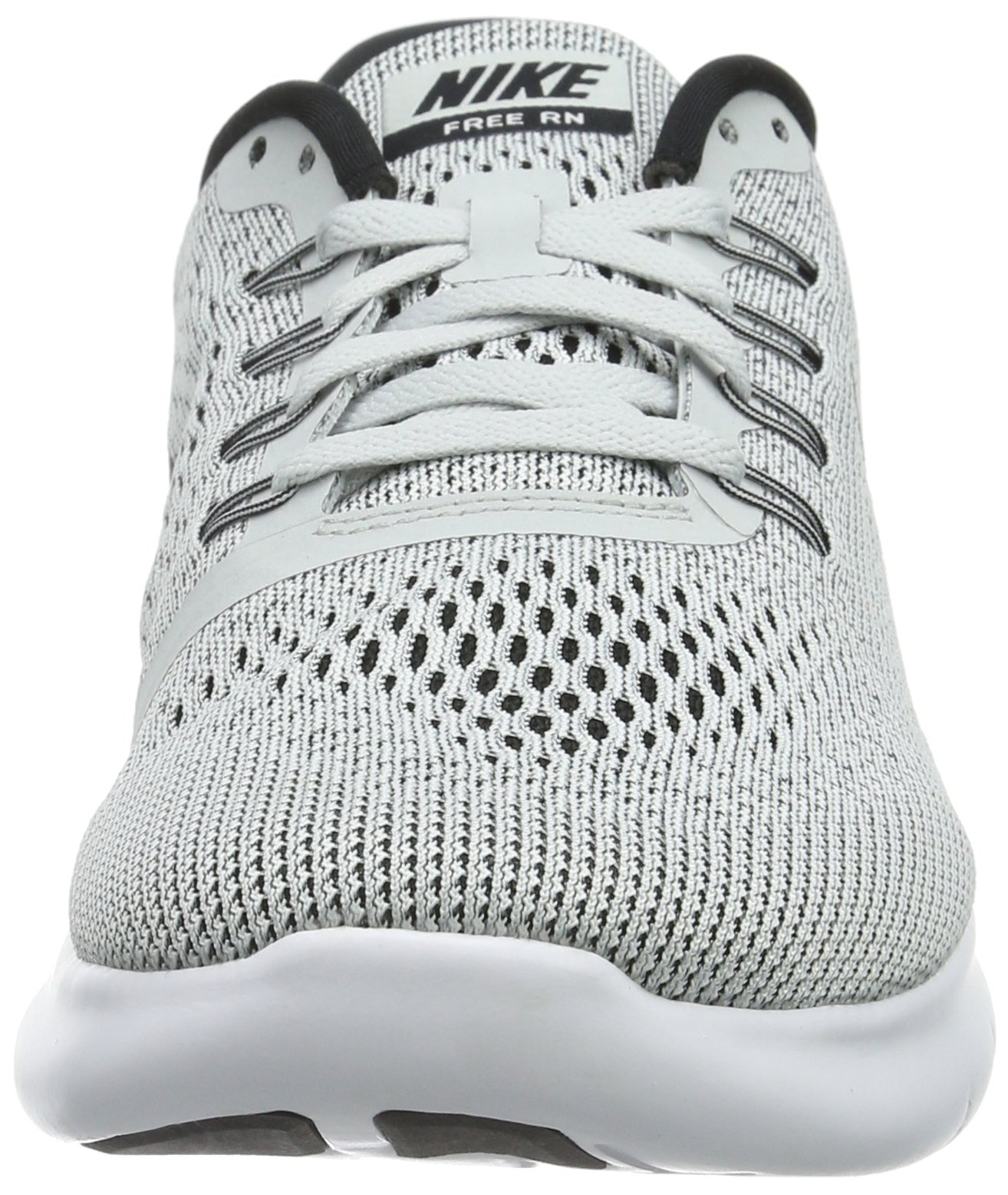 Nike Womens Free Rn Low Top Lace Up Running Sneaker, White, Size 5.5 by Nike (Image #4)