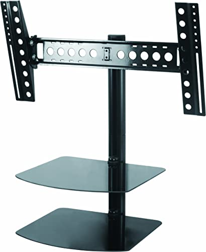 AVF ESL822B-T Tilt and Turn TV Mount with 2 AV Shelves, and Cable Management System for 37-Inch to 60-Inch TV – Black