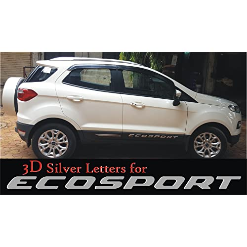 Ss D Silver Letter Badge For Ecosport Cars Lettering Badge For Ecosport Both Side Doors