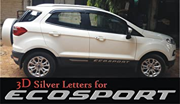 S2s 3d Silver Letter Badge For Ecosport Cars Lettering Badge For