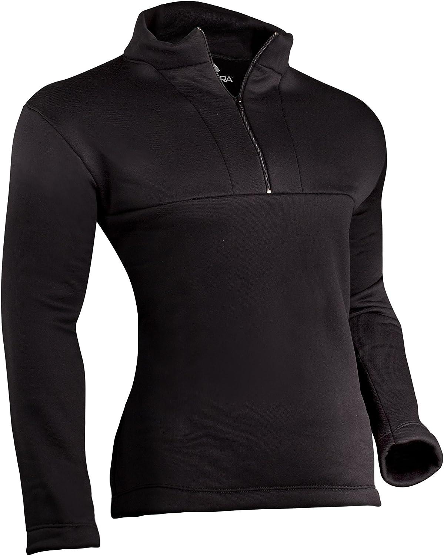 Indera Men's Military Weight Fleeced Polyester Thermal Underwear Mock Zip Top