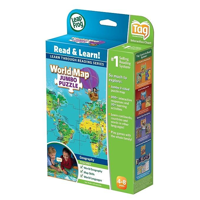 Amazon leapfrog leapreader interactive world map puzzle works amazon leapfrog leapreader interactive world map puzzle works with tag toys games gumiabroncs Choice Image