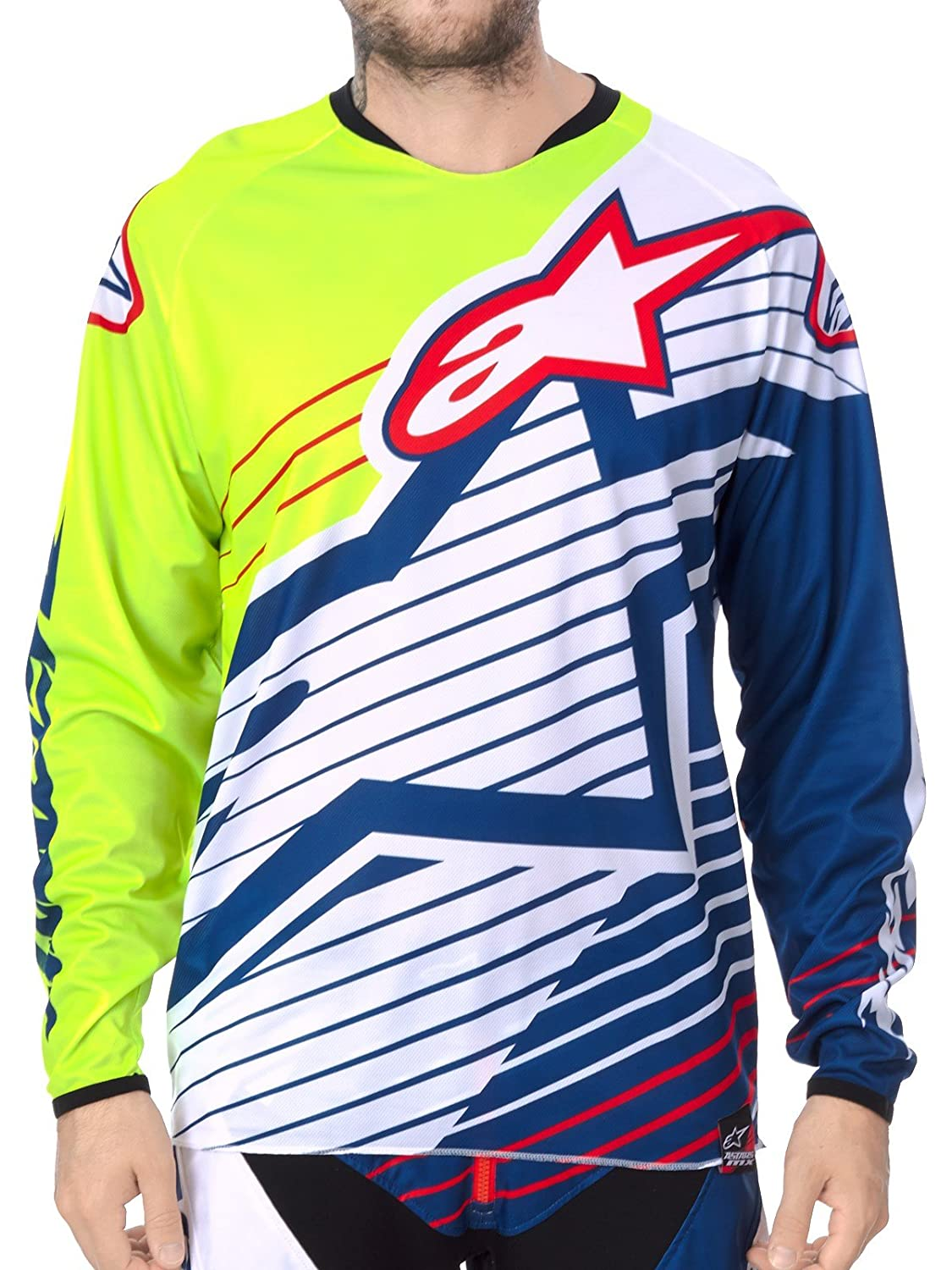 717564b60cd061 Motorcycle Alpinestars Racer Braap Jersey White Yellow Blue XXL UK Seller   alpinestars  Amazon.co.uk  Sports   Outdoors