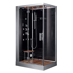 indulge yourself in the pure relaxing pleasure of the aerial platinum left side model steam shower with all the pros of a 6kw steam generator and the added