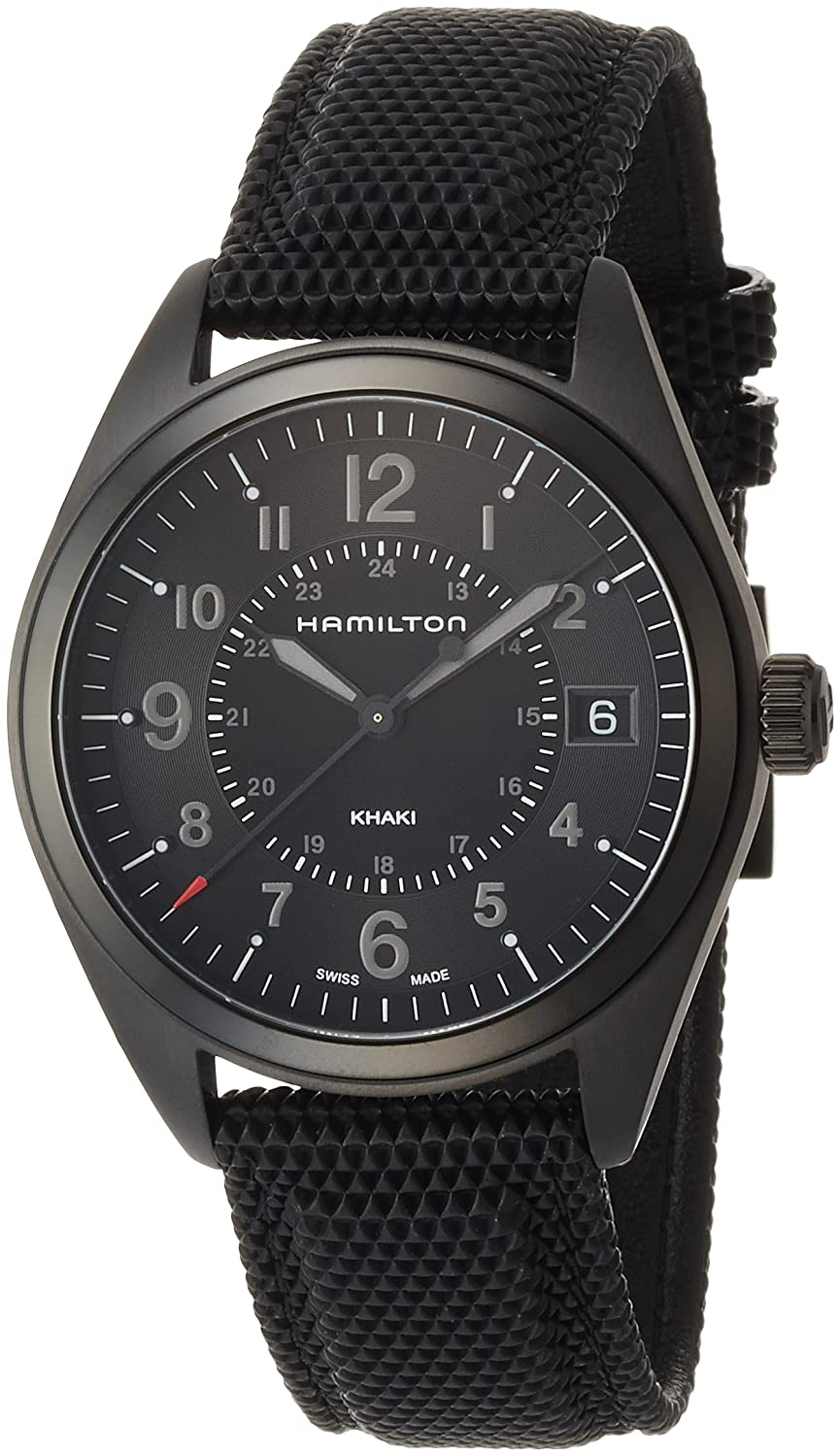 Amazon.com: Hamilton Khaki Field Quartz Black Mens Watch H68401735: Watches