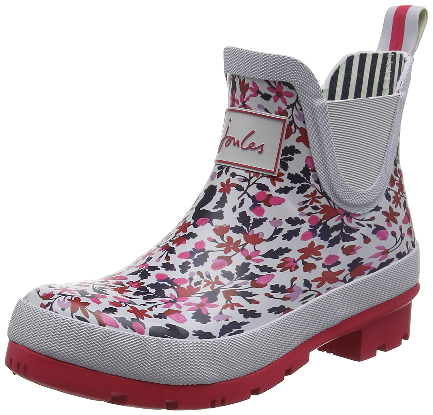 Joules Women's Wellibob Ankle-High Rubber Rain Boot B07KSH4C66 Silver Woodland Squirrel Ditsy Women's 6